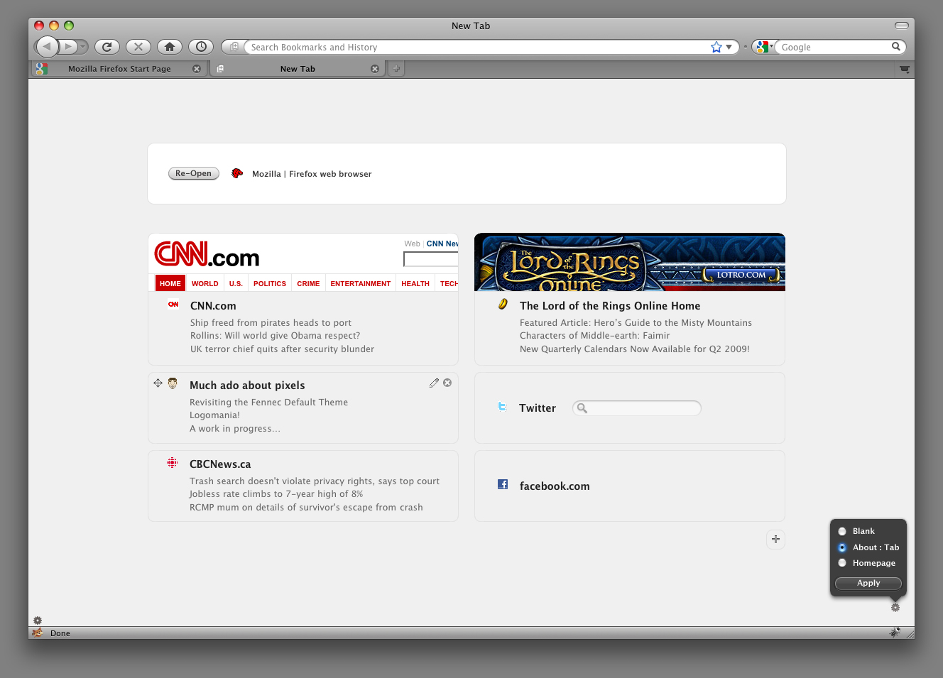 Firefox New Tab: Now With More Pixels! | Reticulating Splines